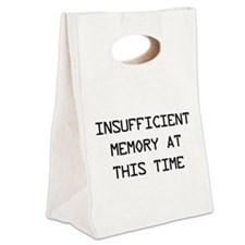 Insufficient memory at this time Canvas Lunch Tote