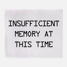 Insufficient memory at this time Throw Blanket