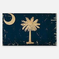 South Carolina State Flag VINTAGE Decal