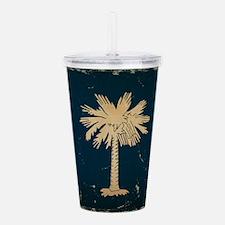 South Carolina State Flag VINTAGE Acrylic Double-w