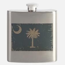 South Carolina State Flag VINTAGE Flask