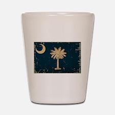 South Carolina State Flag VINTAGE Shot Glass