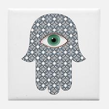 Funny Hamsa hand Tile Coaster