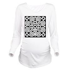 labyrinth Long Sleeve Maternity T-Shirt