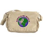 David is my world Messenger Bag