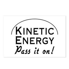 Kinetic energy pass it on Postcards (Package of 8)