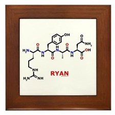 Ryan name molecule Framed Tile