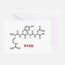 Ryan name molecule Greeting Cards (Pk of 10)