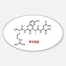 Ryan name molecule Oval Bumper Stickers