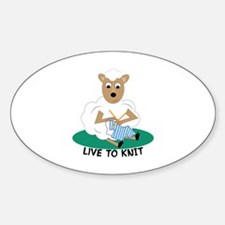 Live To Knit Decal