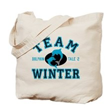 Team Winter Dolphin Tale 2 Tote Bag