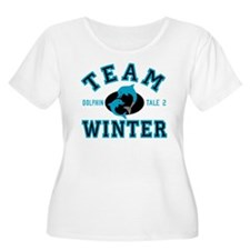 Team Winter Dolphin Tale 2 Plus Size T-Shirt