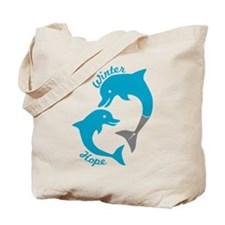 Winter And Hope Dolphin Tale 2 Tote Bag