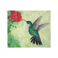 Cute Hummingbirds Throw Blanket