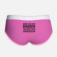 Life gets harder leveled up Women's Boy Brief