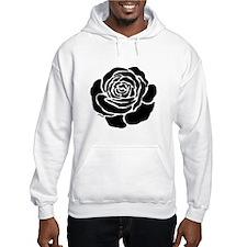 Cool Black Rose Hoodie