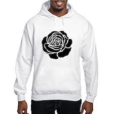 Cool Black Rose Jumper Hoody