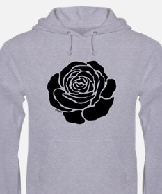 Cool Black Rose Jumper Hoody