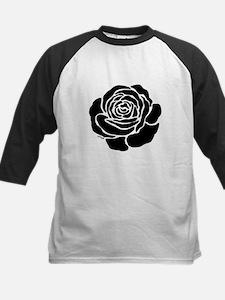 Cool Black Rose Kids Baseball Jersey