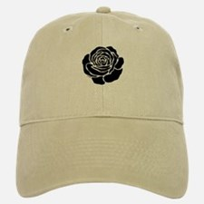Cool Black Rose Baseball Baseball Cap