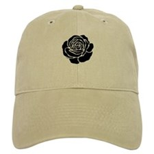Cool Black Rose Baseball Cap