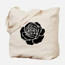 Cool Black Rose Tote Bag