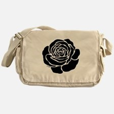 Cool Black Rose Messenger Bag