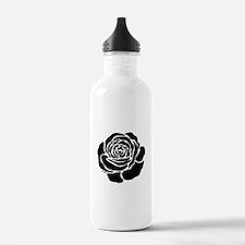 Cool Black Rose Sports Water Bottle