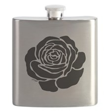 Cool Black Rose Flask
