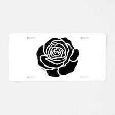 Cool Black Rose Aluminum License Plate