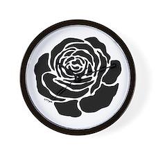 Cool Black Rose Wall Clock