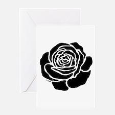 Cool Black Rose Greeting Card