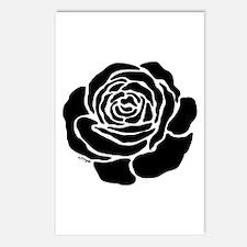 Cool Black Rose Postcards (Package of 8)
