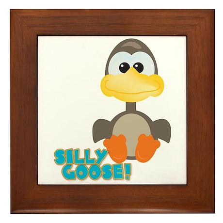 Goofkins Silly Silly Goose Framed Tile