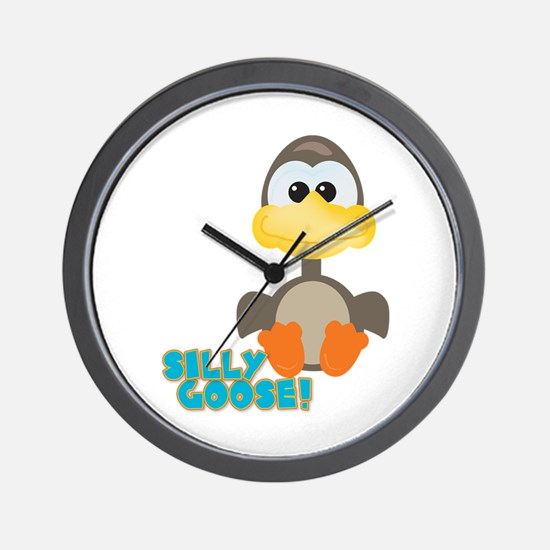 Goofkins Silly Silly Goose Wall Clock