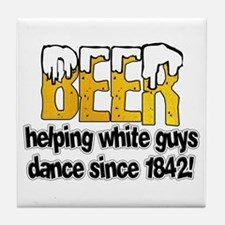 Beer Dance Tile Coaster