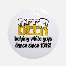 Beer Dance Ornament (Round)