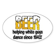 Beer Dance Oval Decal