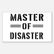 Master Of Disaster Decal