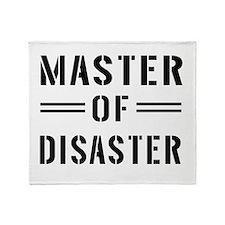 Master Of Disaster Throw Blanket