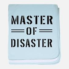 Master Of Disaster baby blanket