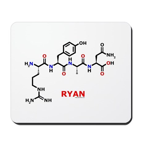 Ryan name molecule Mousepad
