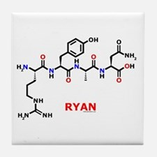 Ryan name molecule Tile Coaster