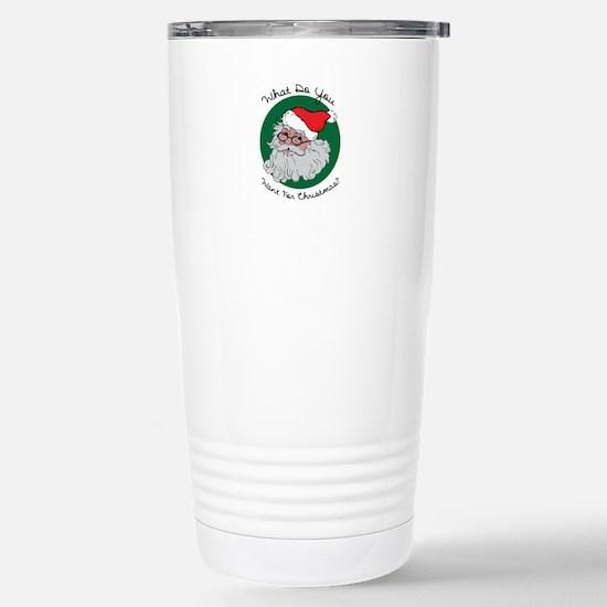 Christmas List Travel Mug