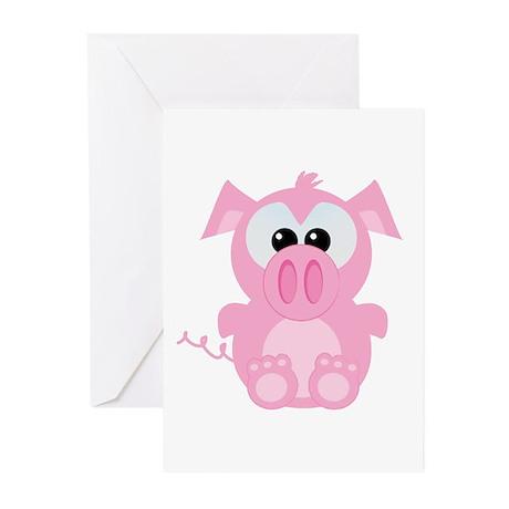 Goofkins Cute Little Piggy Greeting Cards (Package
