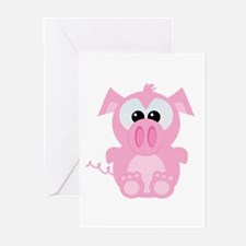 Goofkins Cute Little Piggy Greeting Cards (Package