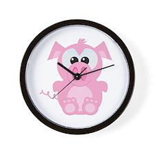 Goofkins Cute Little Piggy Wall Clock