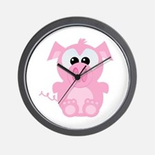 Goofkins Cute Little Piggy Wall Clock