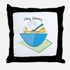 Stay Cheesy Throw Pillow