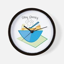 Stay Cheesy Wall Clock